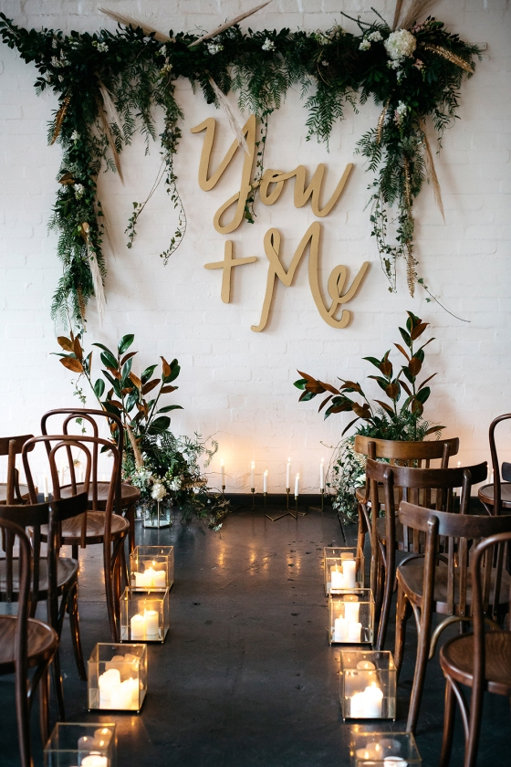 Mixed Metals Wedding Inspiration - photo by Katie Harmsworth Photography http://ruffledblog.com/mixed-metals-wedding-inspiration